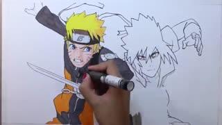 سرعت نقاشی-ناروتو علیه ساسوکه
