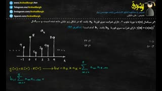 ویدئوی 54 - سیگنال و سیستم - تست دکتری 92 - حل در کمتر از 1 دقیقه