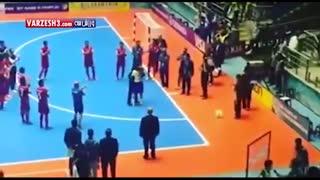 خداحافظی فالکائو از فوتسال روی دست بازیکنان ایران