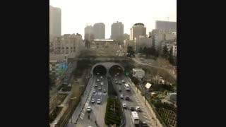 تایم لپس جالب از تونل رسالت تهران / رسانه تصویری وی گذر
