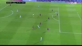 گل سوم سلتاویگو به بارسلونا ( گل به خودی )