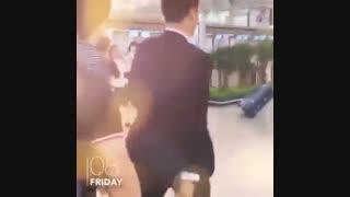 لی جونگ سوک در فرودگاه