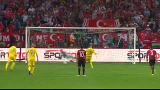 خلاصه بازی: ترکیه 2 - 2  اوکراین