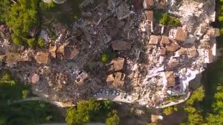 پهپاد ها ابعاد تخریب زلزله ایتالیا را ثبت کردند [تماشا کنید]