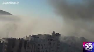 گوشه ای از درگیری تروریست ها و مردم سوریه در شهر حلب
