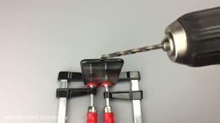 ایجاد پورت هدفون با دریل برقی - شکنجه آیفون