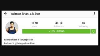 فن پیج  ما در اینستاگرام را دنبال کنید (فن پیج سلمان خان)