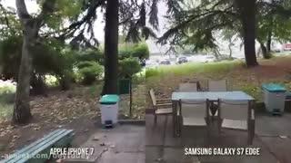مقایسه لرزشگیر ویدیوی آیفون7 و گلکسی اس7 اج