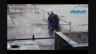 عملیات تخریب بتن با استفاده از واترجت فشارقوی