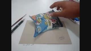 نقاشی سه بعدی عجیب از کرانچی