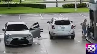 دزدی در پمپ بنزین با خودروی لوکس
