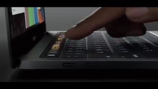 ویدیوی معرفی مک بوک پروی جدید اپل با نوار لمسی OLED