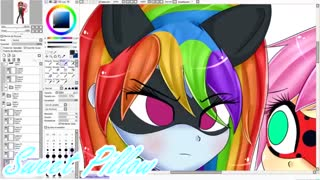 【Speed Paint】・~Flutterbug and Chat Dash~