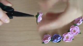دستبند گل با خمیر پلیمر