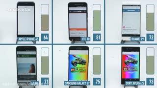 مقایسه باتری ۶ گوشی هوشمند