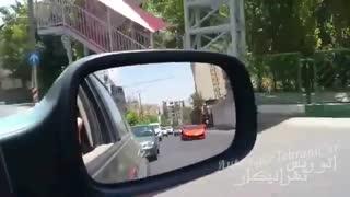 غرش لامبورگینی آونتادور در تهران  / رسانه تصویری وی گذر