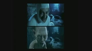 Andy Serkis performs Gollum's