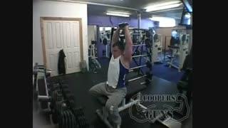 نمایش فیلم  آموزش حرکات بدنسازی  پشت بازو   با دمبل