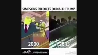 """ترامپ 16 سال پیش در """"سیمسون ها"""" رئیس جمهور آمریکا بود!"""