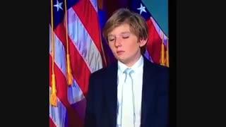 پسر خوابالوی ترامپ Barron ، خیلی بانمکه :))))