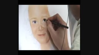 Drawing a GIRL PORTRAIT in soft pastel