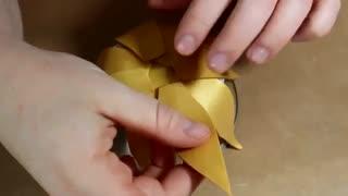 جاشمعی گل آفتابگردون با خمیر پلیمر
