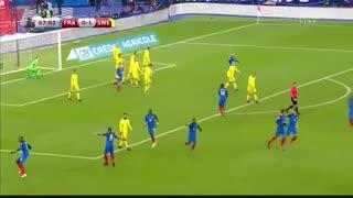 خلاصه بازی:  فرانسه  2 - 1  سوئد