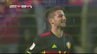 خلاصه بازی:  بلژیک  8 - 1  استونی