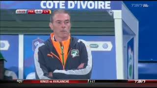 خلاصه بازی:  ساحل عاج  0 - 0  فرانسه