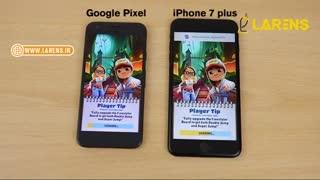 مقایسه سرعت آیفون 7 پلاس و گوگل پیکسل XL (با زیرنویس فارسی)