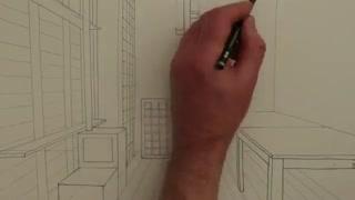 آموزش نقاشی و طراحی -پرسپکتیو- طراحی داخلی