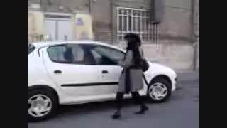 کتک زدن پسر توسط دختر ایرانی