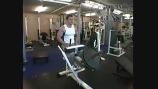 نمایش فیلم آموزش حرکات بدنسازی عضله ساق پا نشسته با دستگاه