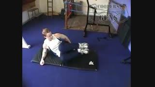 نمایش فیلم - آموزش حرکات بدنسازی - پهلو - زانو به سینه