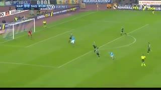 خلاصه بازی:  ناپولی  1 - 1  ساسولو