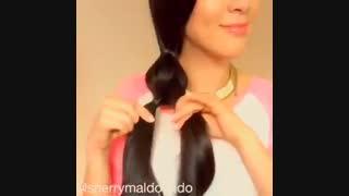 بافتن مو ساده و زیبا