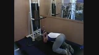 نمایش فیلم آموزش حرکات بدنسازی شکم کرانچ ، سیم کش ، کمر صاف