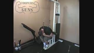 نمایش فیلم آموزش حرکات بدنسازی شکم نشسته ، سیم کش