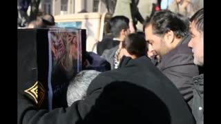 تشیع زائران آسمانی توسط مردم تبریز