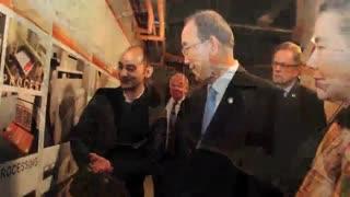 یک ایرانی سالن شماره 17 سازمان ملل را بازسازی کرد !