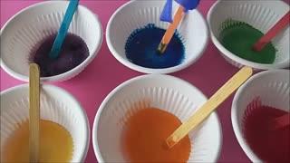 آموزش اسلایم رنگین کمانی