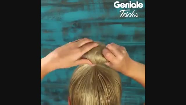 یک روش اسان برای بستن مو
