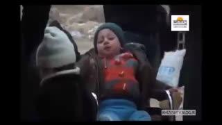 مردم رها شده از چنگ تروریست های حلب شرقی