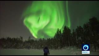 آسمانِ شب در شهری از فنلاند همگان را خیره کرد