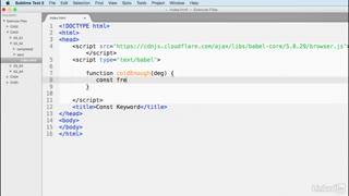 آموزش جاوا اسکریپت ورژن ECMAScript 6