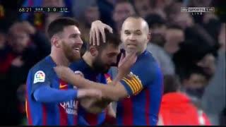 خلاصه بازی:  بارسلونا  4 - 1  اسپانیول