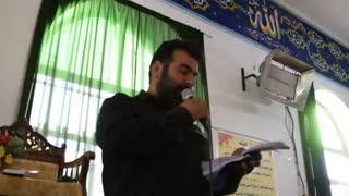فیلم نوحه خوانی مشهدی ابراهیم حسینی- میقان محرم 95