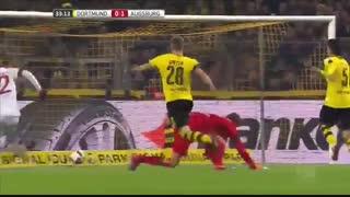 خلاصه بازی:  آگزبورگ  1- 1  دورتموند