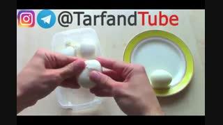 چگونه پوست تخم مرغ پخته (آب پز) را به راحتی جدا کنیم؟