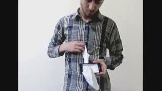 کلیپ رد کردن دستمال از وسط تلفن همراه روشن!